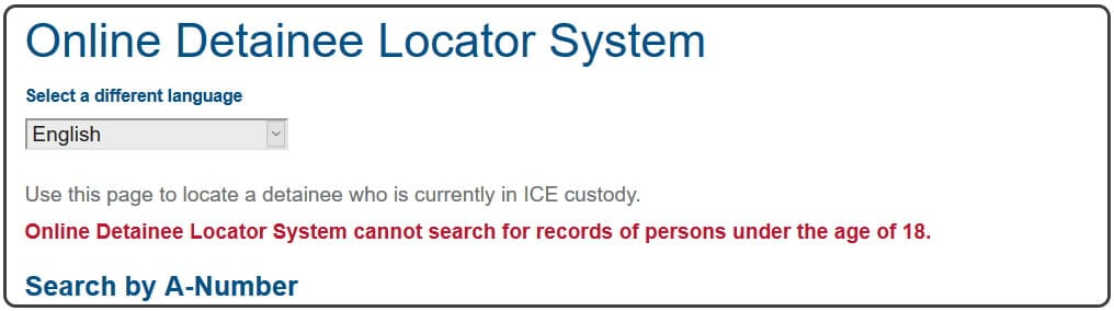 ODLS detainee search